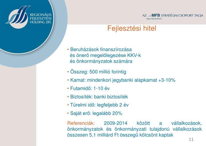 Fejlesztési hitel