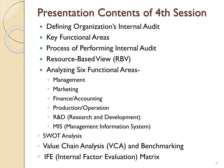 Presentation Contents of 4th Session
