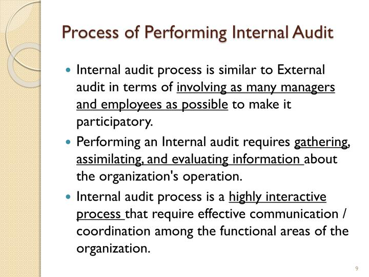 Process of Performing Internal Audit