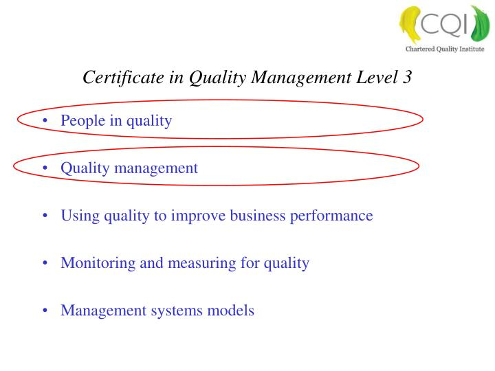 People in quality