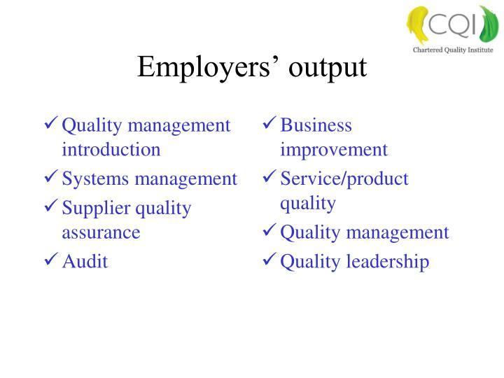 Quality management introduction