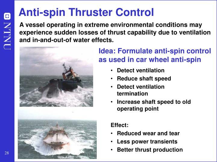 Anti-spin Thruster Control