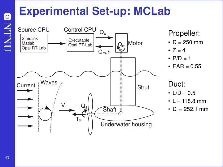 Experimental Set-up: MCLab