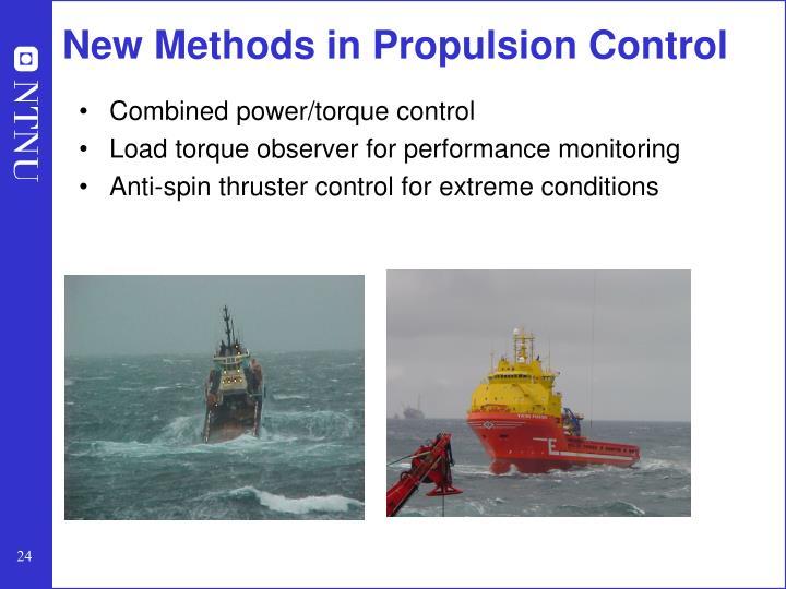 New Methods in Propulsion Control