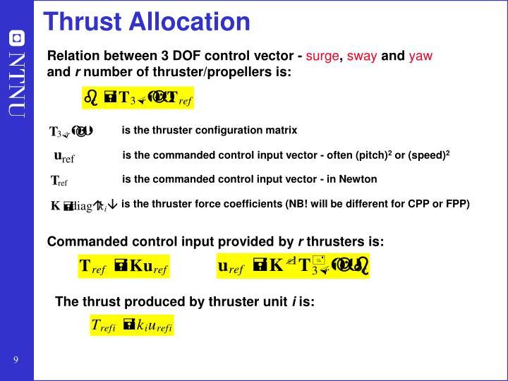 Thrust Allocation