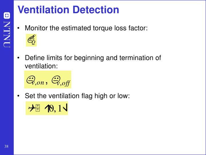 Ventilation Detection