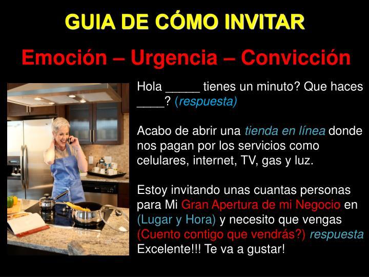 GUIA DE CÓMO INVITAR