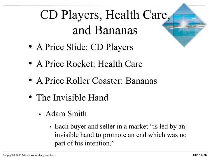 CD Players, Health Care,