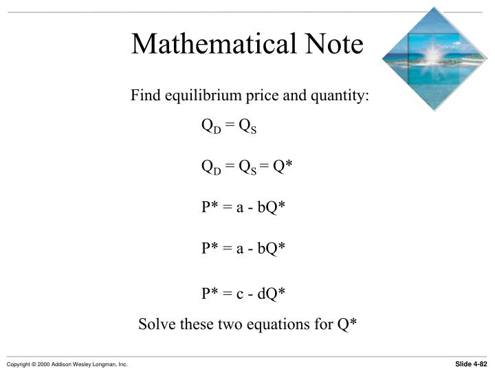 Mathematical Note