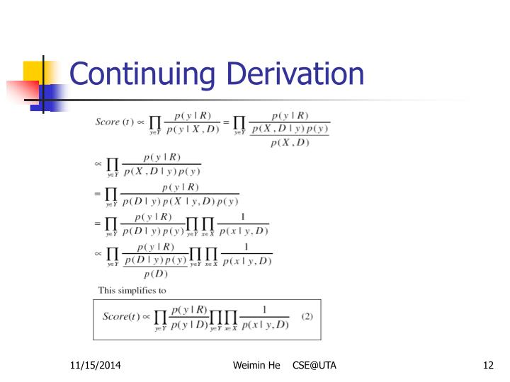 Continuing Derivation