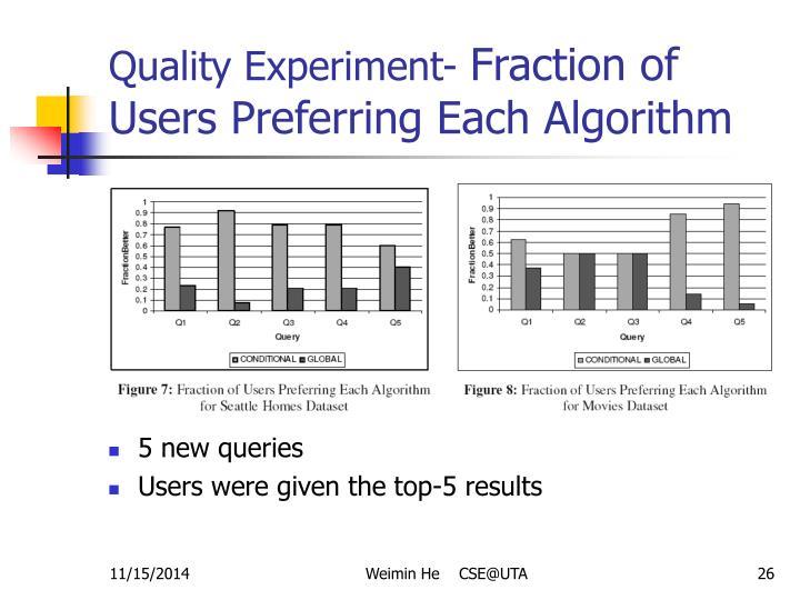 Quality Experiment-
