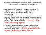 networks deal with the cumulative results of efforts and investment in r d during a certain period