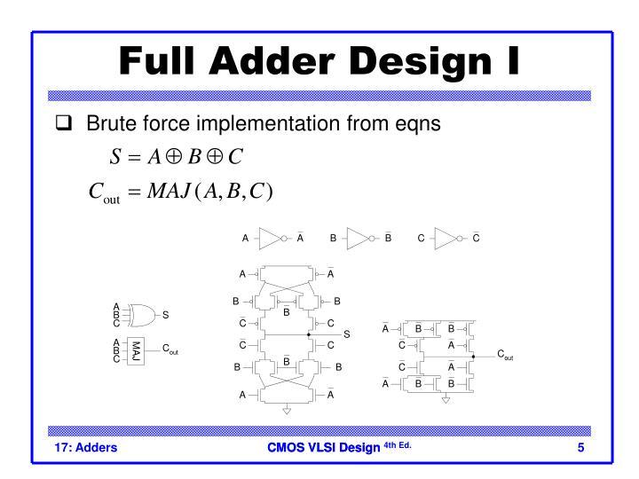 Full Adder Design I