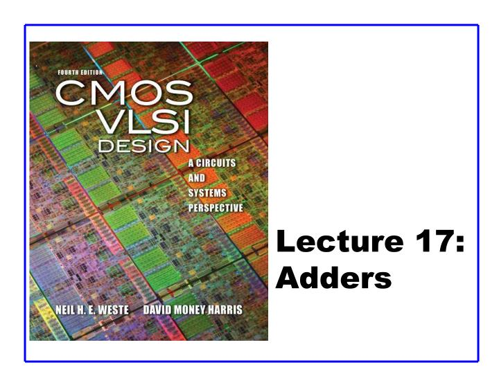 Lecture 17 adders