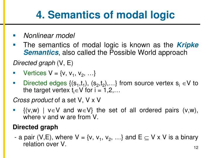 4. Semantics of modal logic