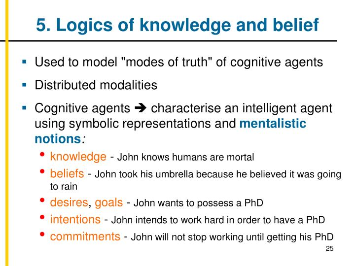5. Logics of knowledge and belief