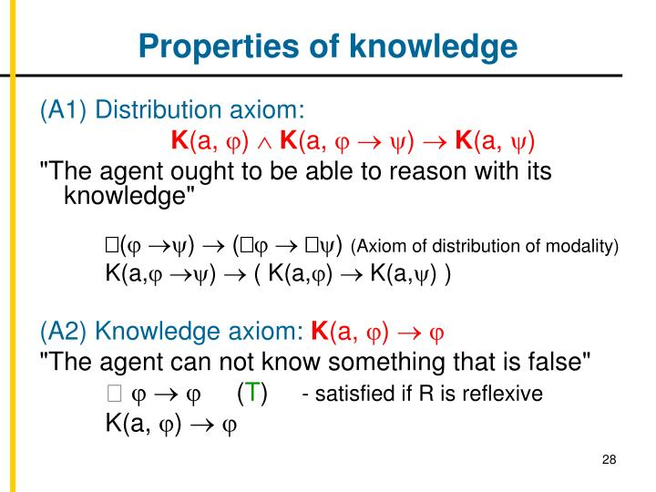 Properties of knowledge