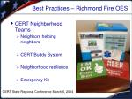 best practices richmond fire oes
