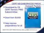 cert neighborhood pwd e outreach packets