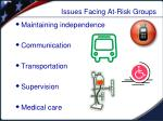 issues facing at risk groups