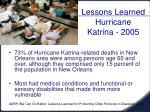 lessons learned hurricane katrina 2005