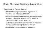 model checking distributed algorithms