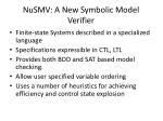 nusmv a new symbolic model verifier