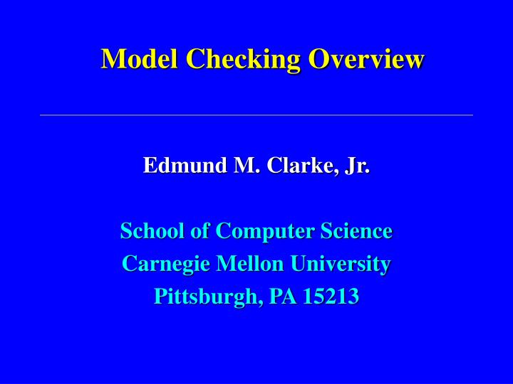 model checking overview n.