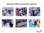 modules of different government agencies