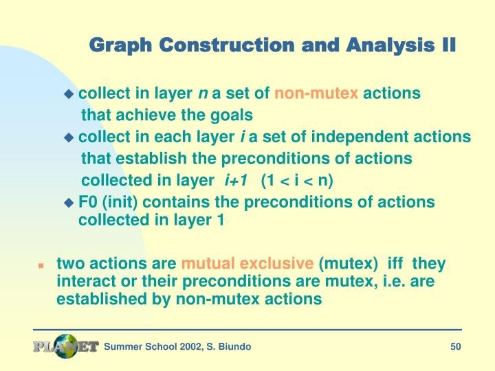 Graph Construction and Analysis II