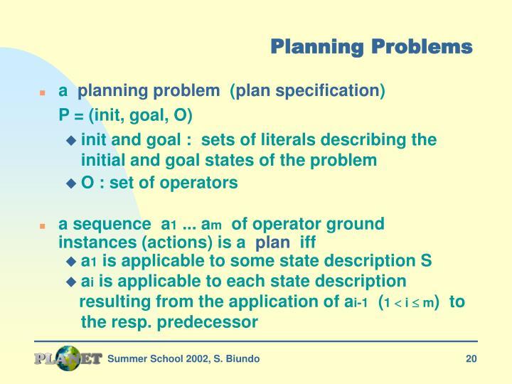 Planning Problems