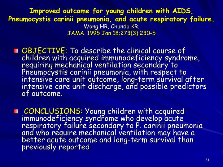 Improved outcome for young children with AIDS,