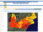 specialized applications national weather service forecast map services