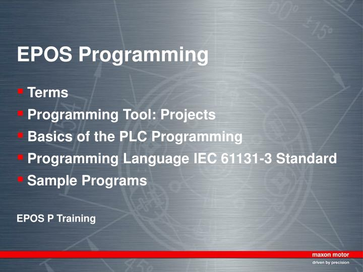 PPT - EPOS Programming PowerPoint Presentation - ID:6651474