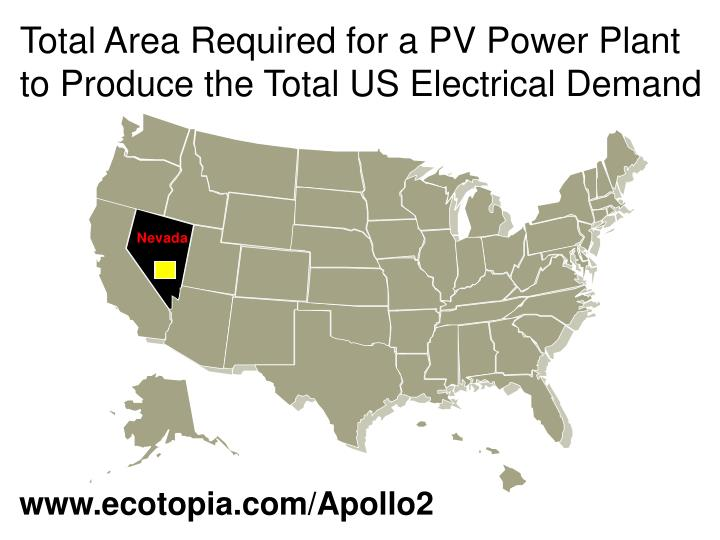 Total Area Required for a PV Power Plant