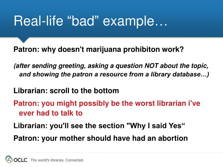 """Real-life """"bad"""" example…"""