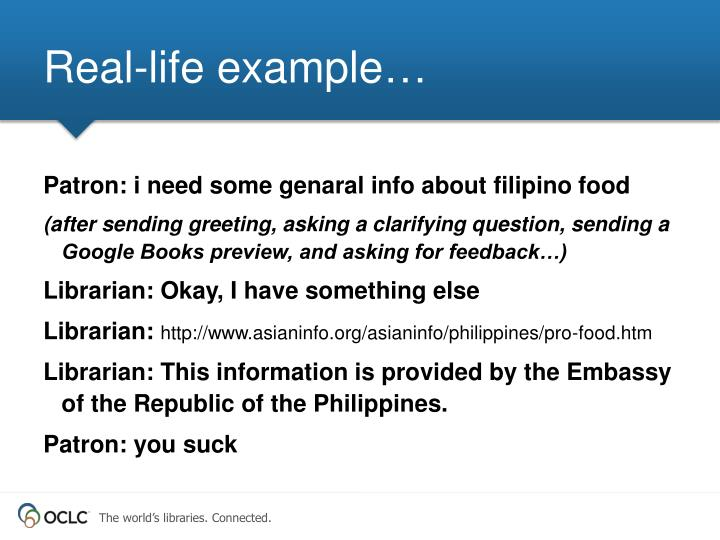 Real-life example…