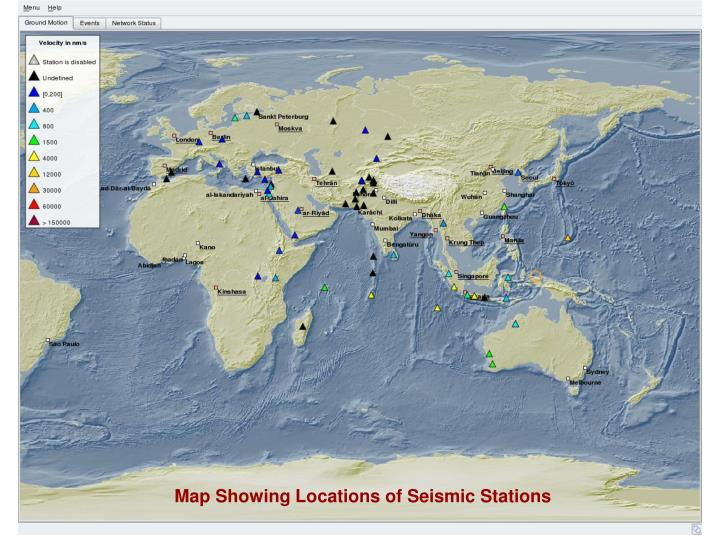 Map Showing Locations of Seismic Stations