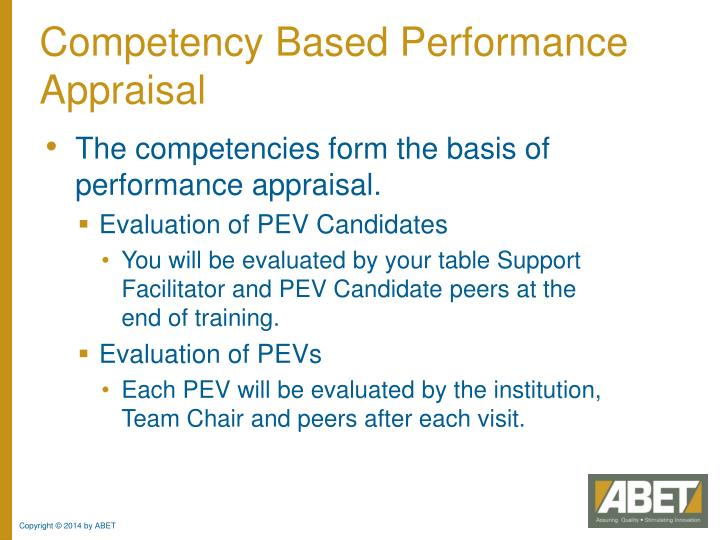 Competency Based Performance Appraisal