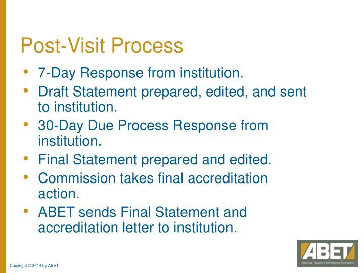 Post-Visit Process
