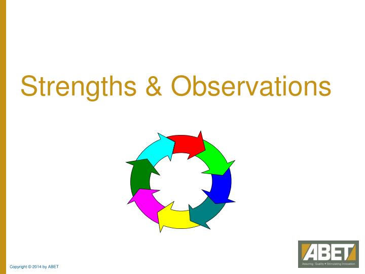 Strengths & Observations