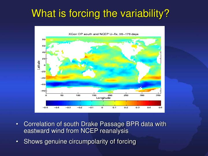 What is forcing the variability?