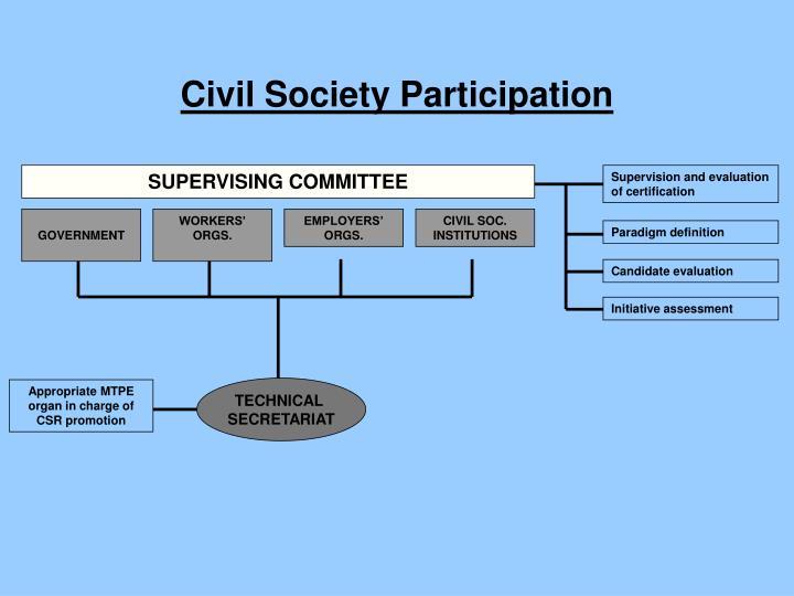 Civil Society Participation