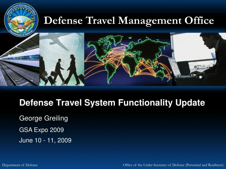 defense travel system functionality update n.