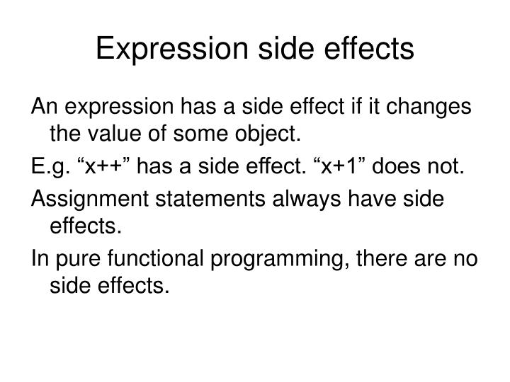 Expression side effects