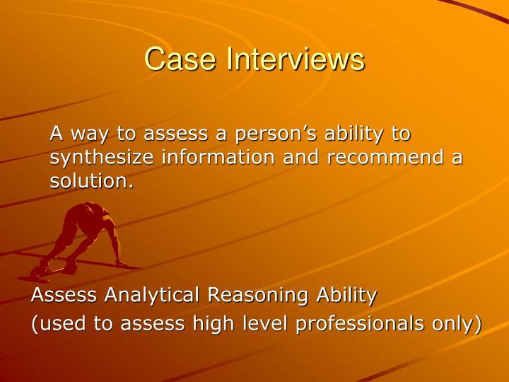 Case Interviews