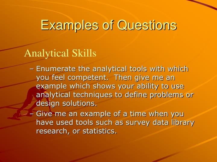Examples of Questions