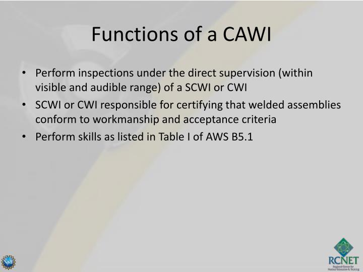 Functions of a CAWI
