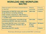 workload and workflow bactec