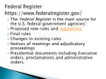 federal register https www federalregister gov